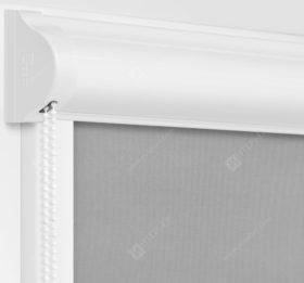 Рулонные кассетные шторы УНИ - Респект блэкаут серый