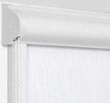 Рулонные кассетные шторы УНИ - Монако белый на пластиковые окна