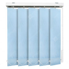 Вертикальные тканевые жалюзи Флора голубой