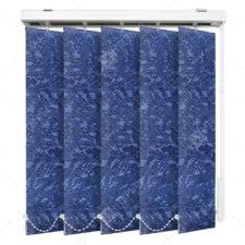 Вертикальные тканевые жалюзи Шёлк синий