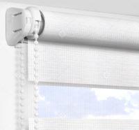 Рулонные шторы День-Ночь - Бергамо белоснежный