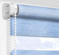 Рулонные шторы День-Ночь - Бергамо голубой