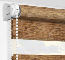Рулонные шторы День-Ночь - Бергамо коричневый