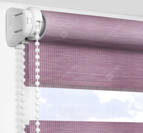 Рулонные шторы День-Ночь - Бергамо лиловый