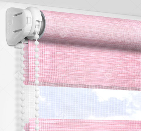 Рулонные шторы День-Ночь - Бергамо розовый