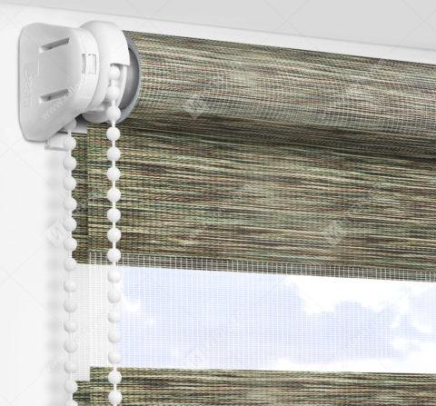 Рулонные шторы День-Ночь - Бергамо зеленый
