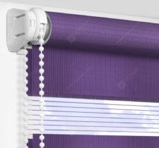 Рулонные шторы День-Ночь - Делия фиолетовый