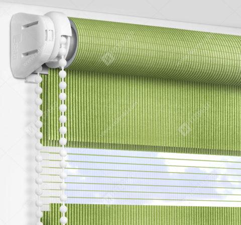 Рулонные шторы День-Ночь - Делия зеленый