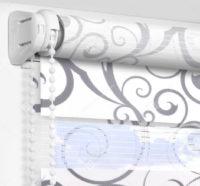 Рулонные шторы День-Ночь - Мариано серый