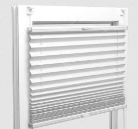 Шторы Плиссе - Аида белый на пластиковые окна