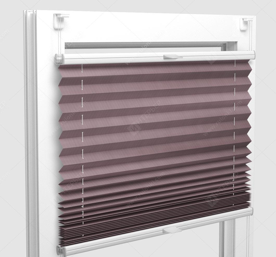 Шторы Плиссе - Бароло перл сиреневый на пластиковые окна