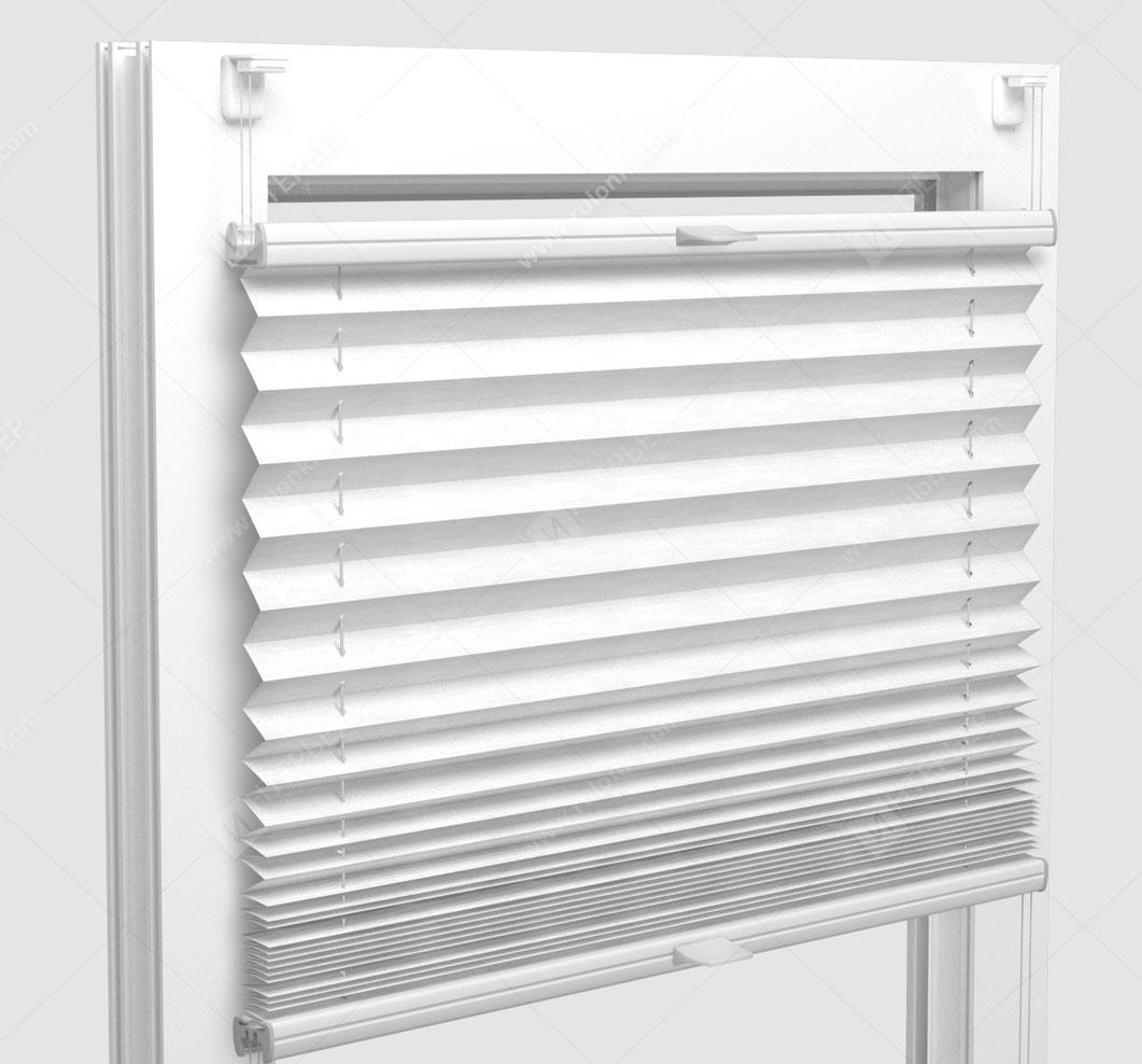 Шторы Плиссе - Флаер белый на пластиковые окна