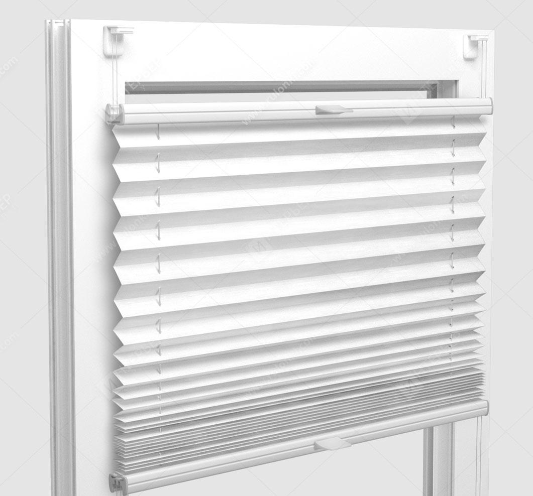Шторы Плиссе - Флаер перл белый на пластиковые окна