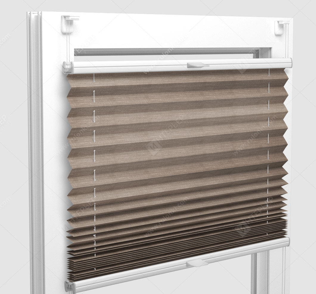 Шторы Плиссе - Флаер перл светло-коричневый на пластиковые окна