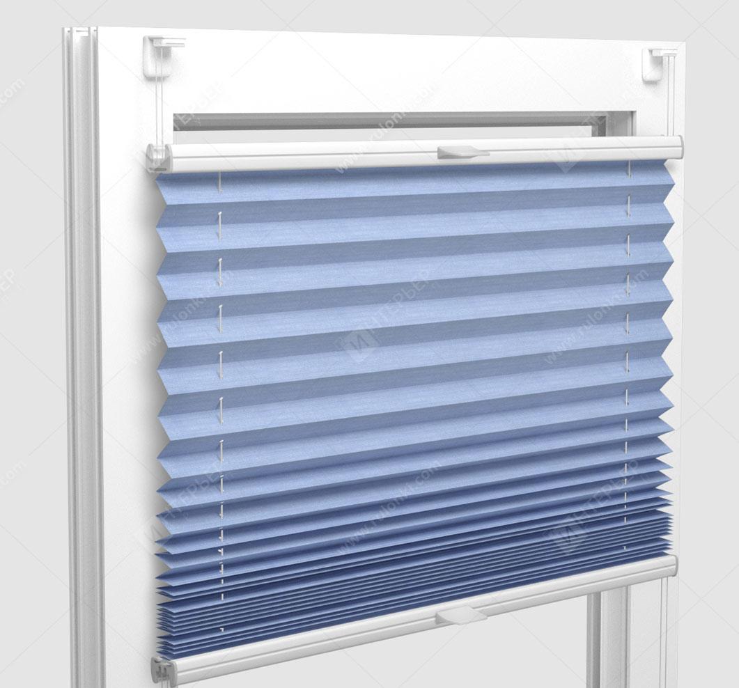 Шторы Плиссе - Флаер перл светло-голубой на пластиковые окна