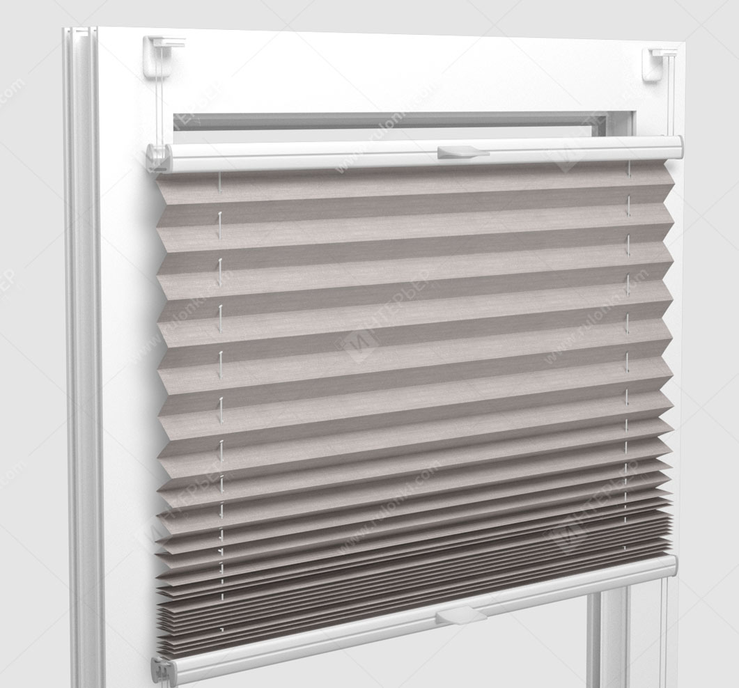 Шторы Плиссе - Флаер перл светло-серый на пластиковые окна