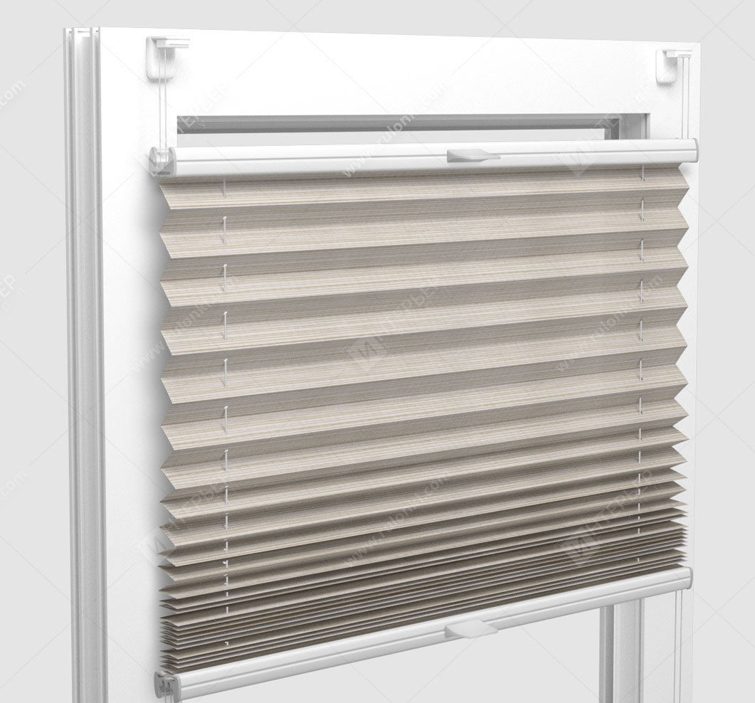 Шторы Плиссе - Гарда кремовый на пластиковые окна