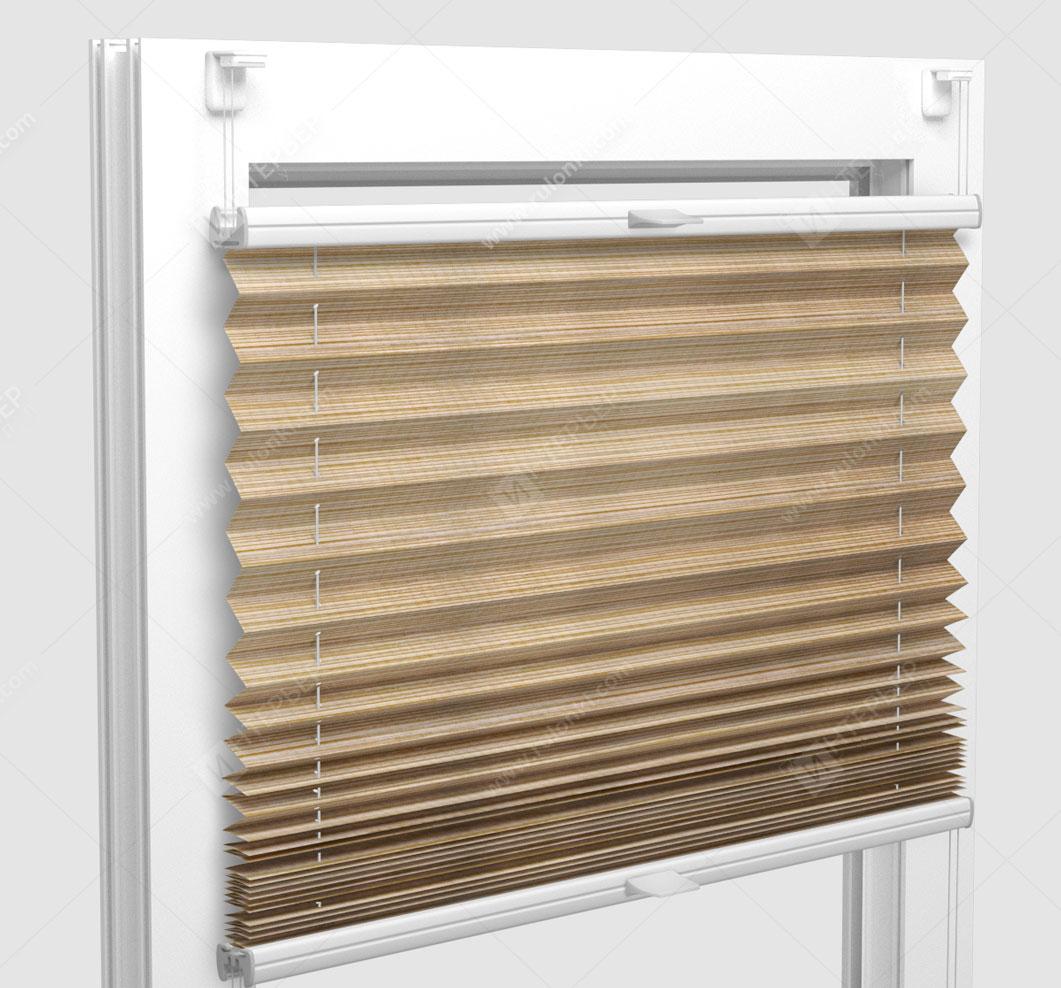 Шторы Плиссе - Гарда перл коричневый на пластиковые окна