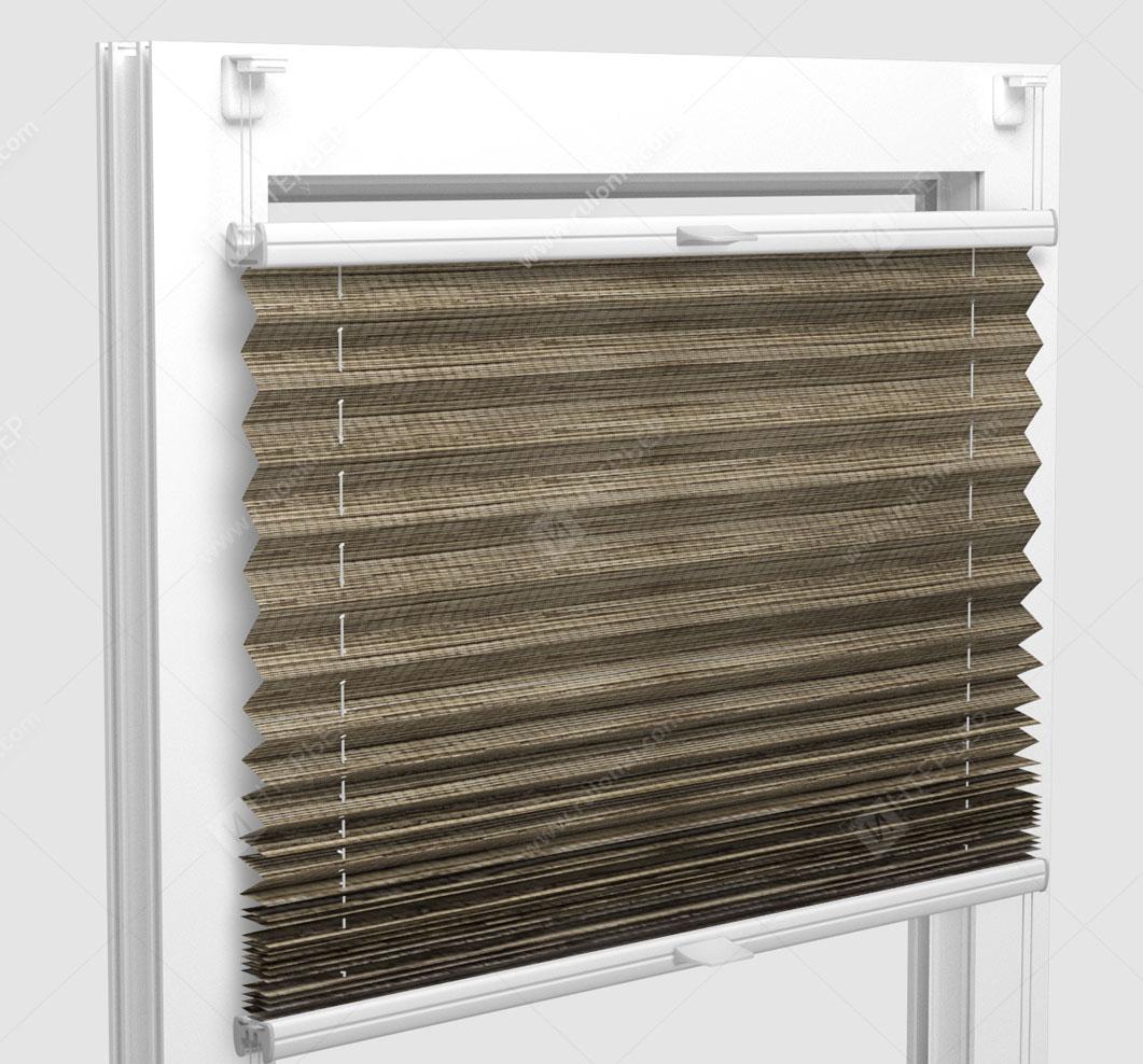 Шторы Плиссе - Гарда перл орех на пластиковые окна