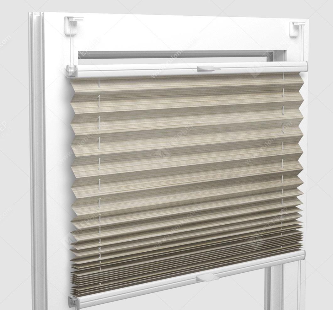 Шторы Плиссе - Гарда перл песочный на пластиковые окна