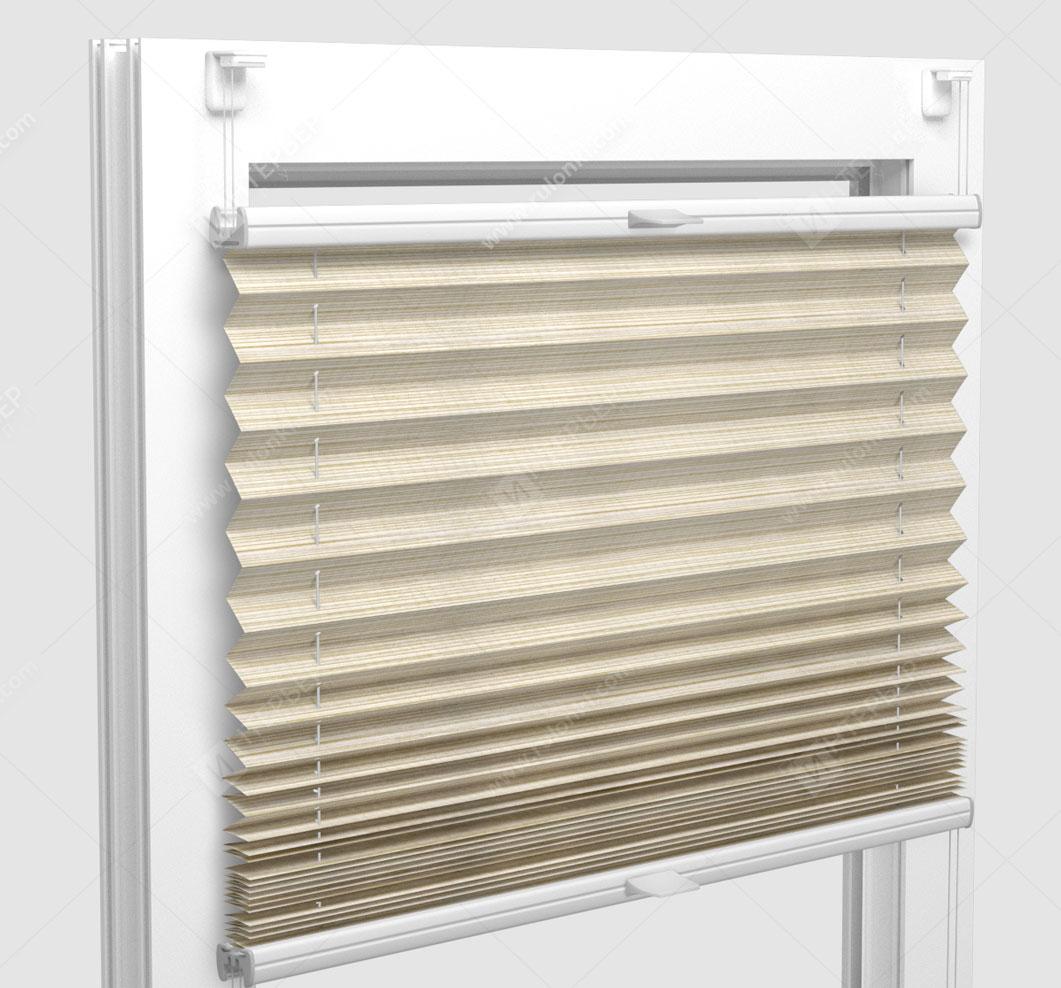 Шторы Плиссе - Гарда песочный на пластиковые окна