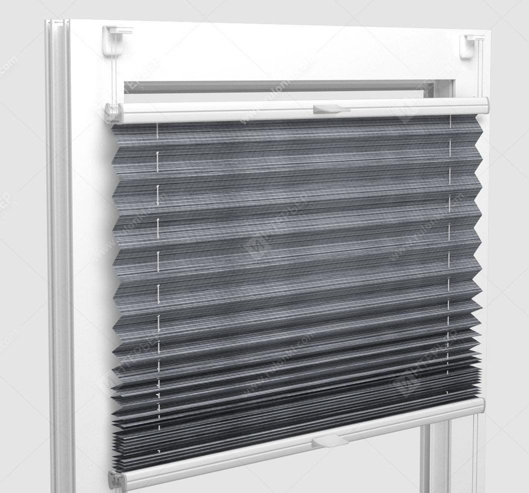 Шторы Плиссе - Гарда серый на пластиковые окна