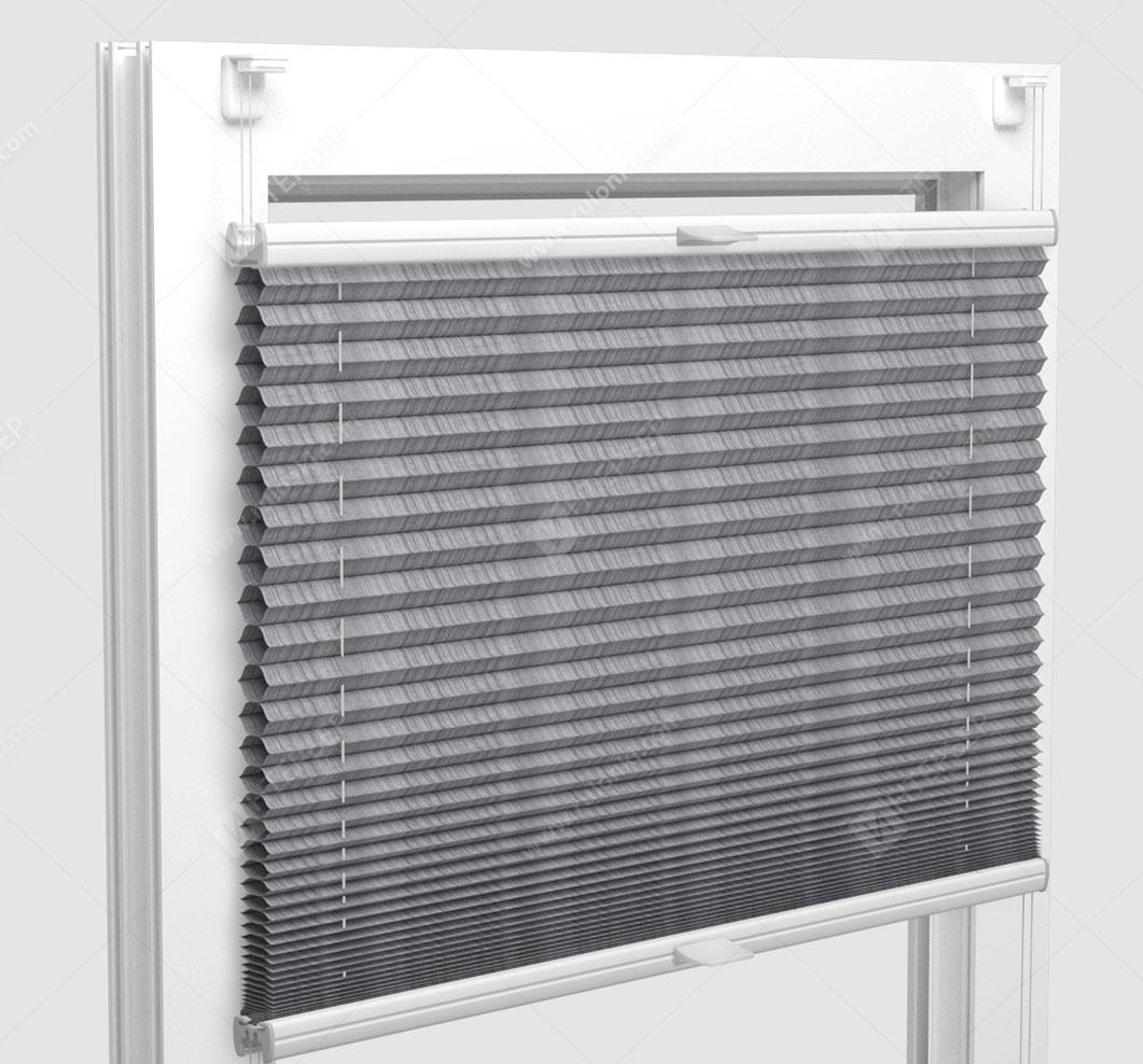 Шторы Плиссе - Капри светло-серый на пластиковые окна