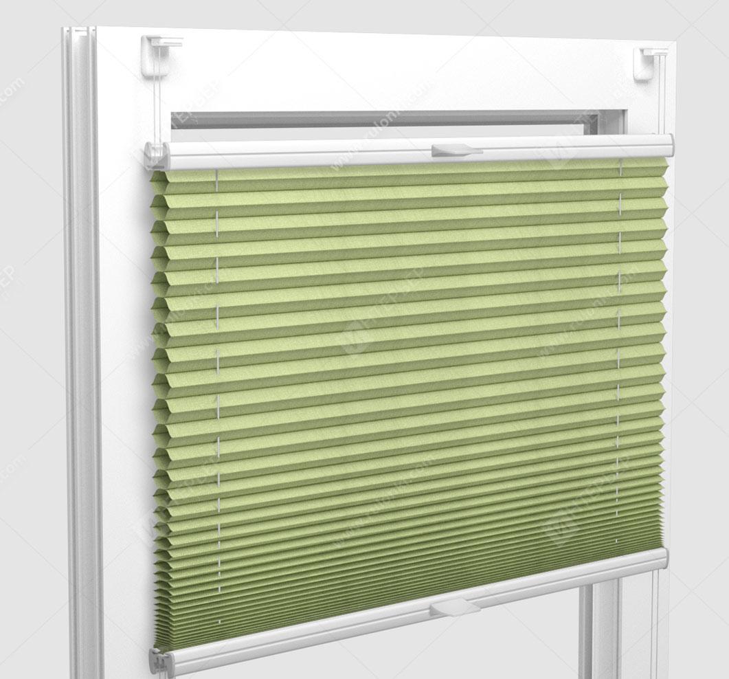 Шторы Плиссе - Капри светло-зеленый на пластиковые окна