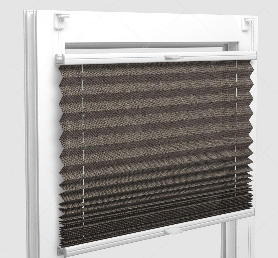 Шторы Плиссе - Корсика светло-коричневый на пластиковые окна