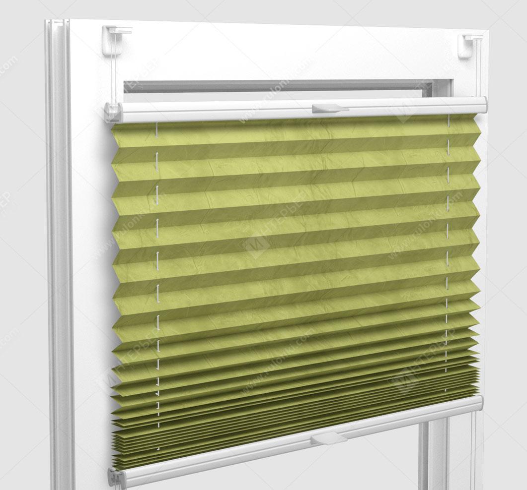 Шторы Плиссе - Краш лайм на пластиковые окна