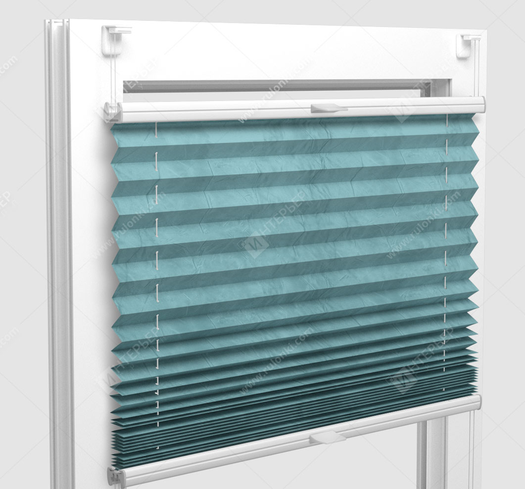 Шторы Плиссе - Краш мятный на пластиковые окна