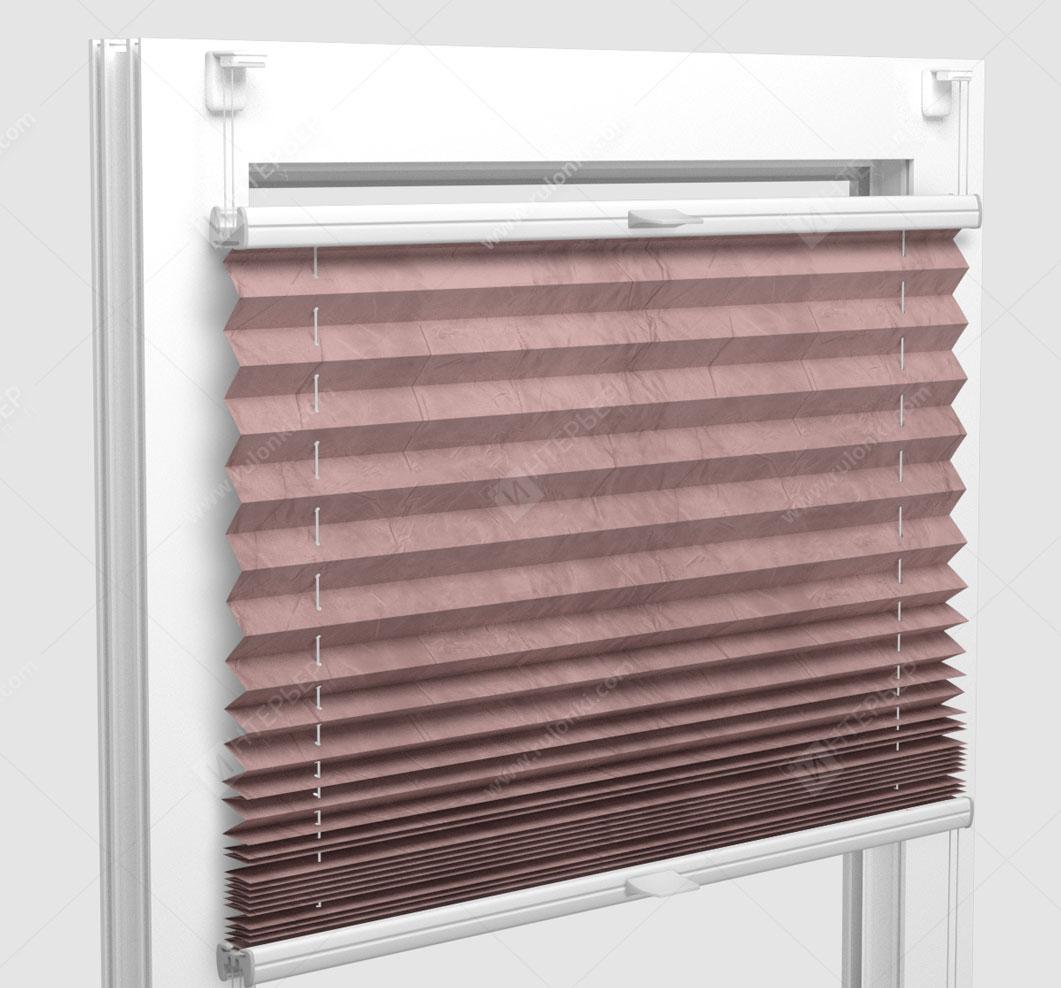Шторы Плиссе - Краш перл светло-сиреневый на пластиковые окна
