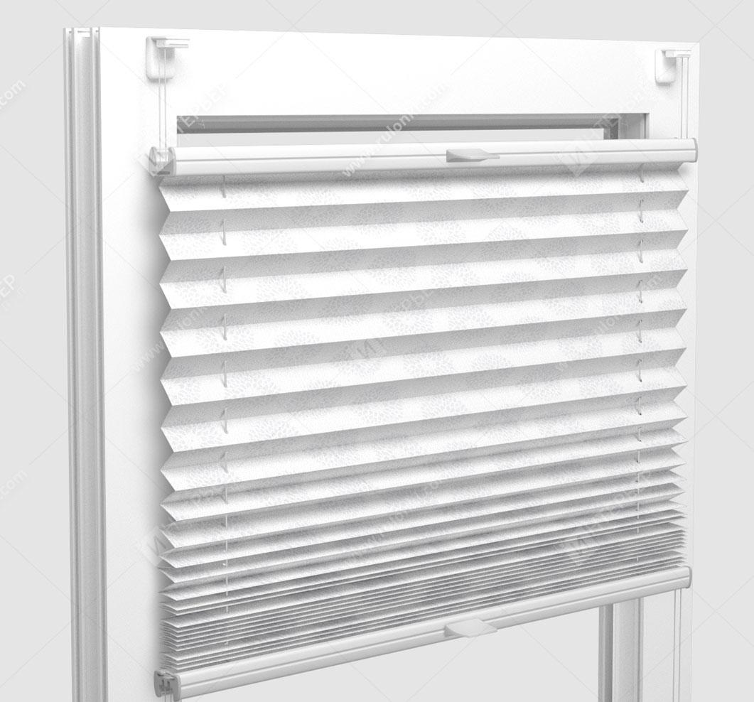 Шторы Плиссе - Новелла белый на пластиковые окна