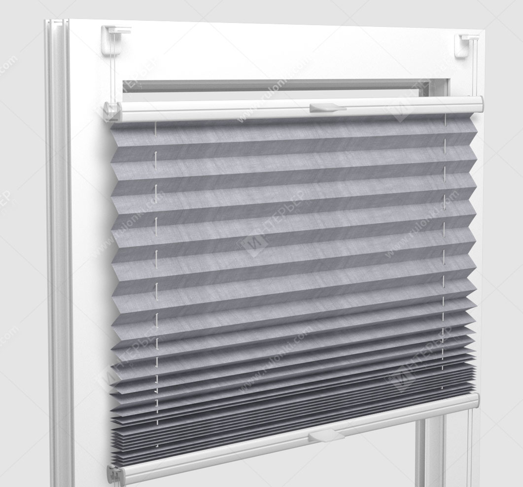 Шторы Плиссе - Сето блэкаут металлик на пластиковые окна
