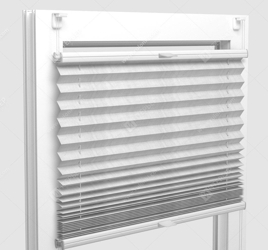 Шторы Плиссе - Сето блэкаут светло-бежевый на пластиковые окна