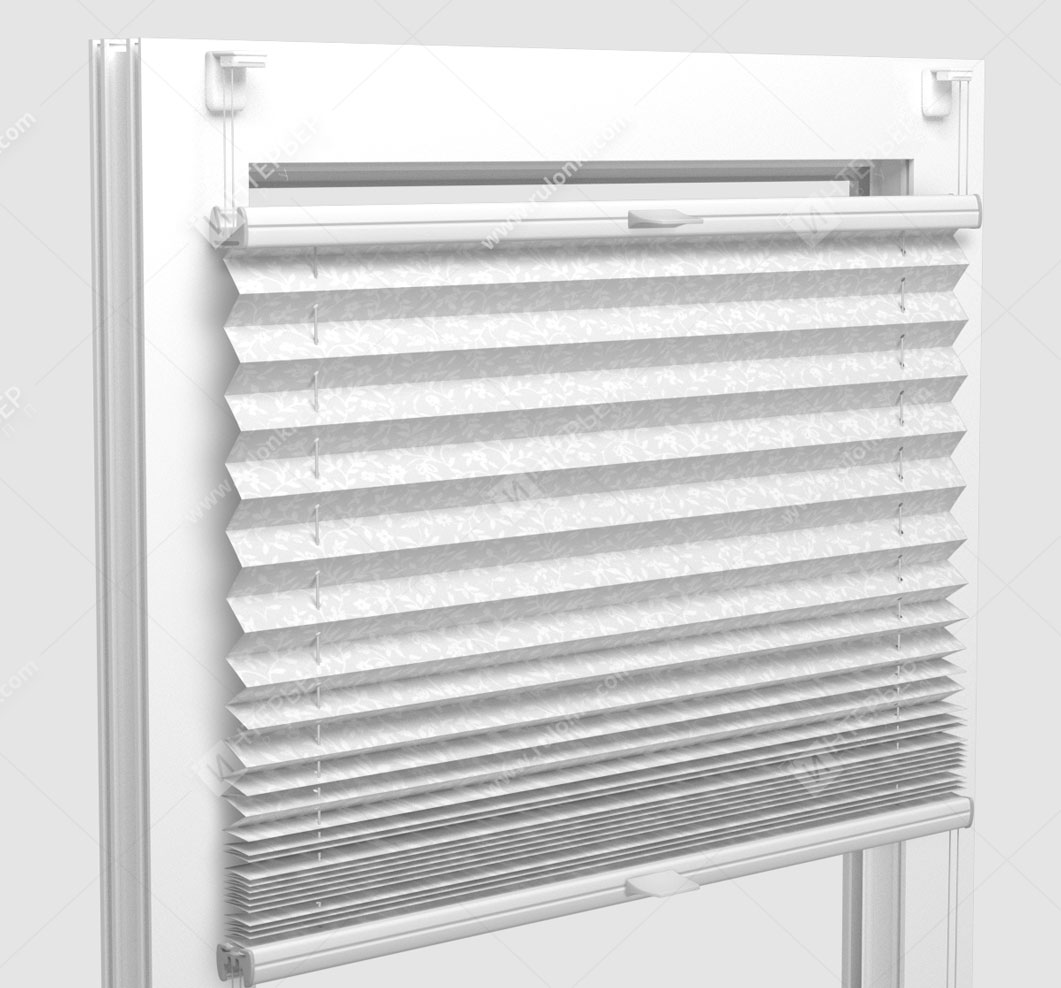 Шторы Плиссе - Сутрио белый на пластиковые окна