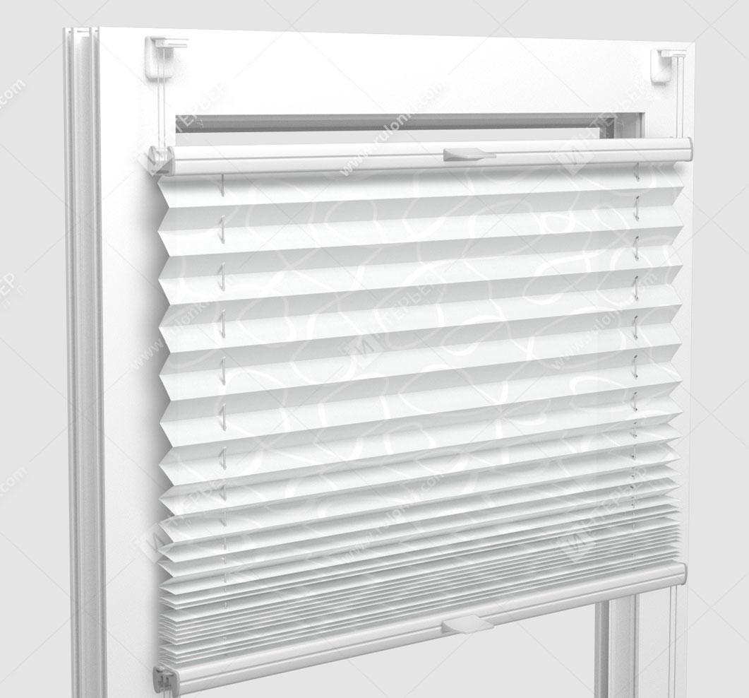 Шторы Плиссе - Тивали белый на пластиковые окна