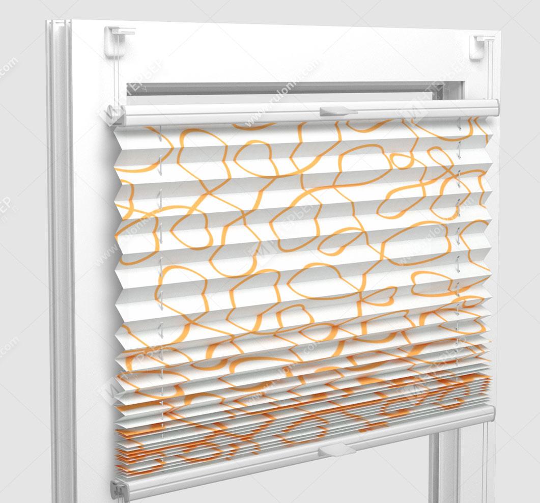 Шторы Плиссе - Тивали оранжевый на пластиковые окна