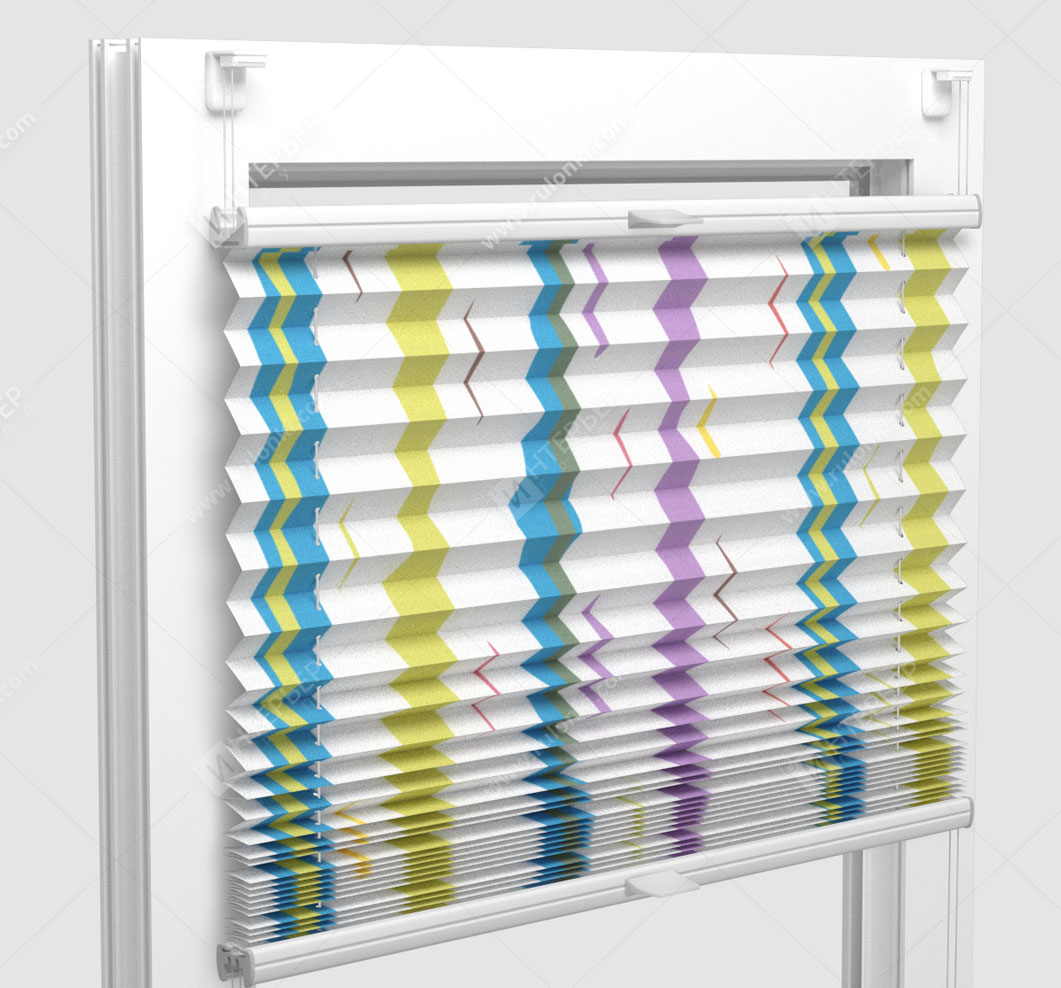 Шторы Плиссе - Васто голубой на пластиковые окна