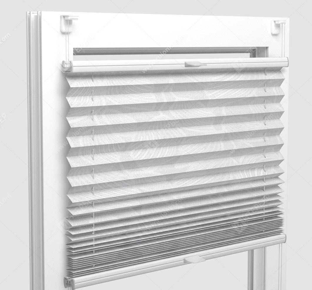 Шторы Плиссе - Винчи белый на пластиковые окна