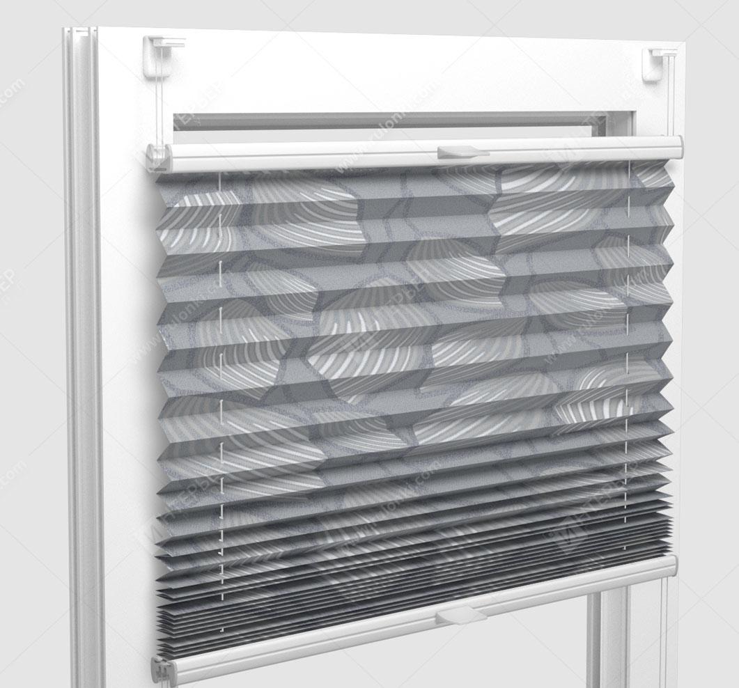 Шторы Плиссе - Винчи серый на пластиковые окна