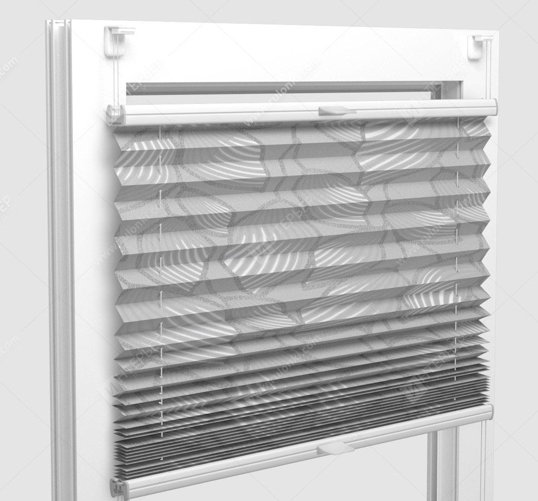 Шторы Плиссе - Винчи светло-серый на пластиковые окна